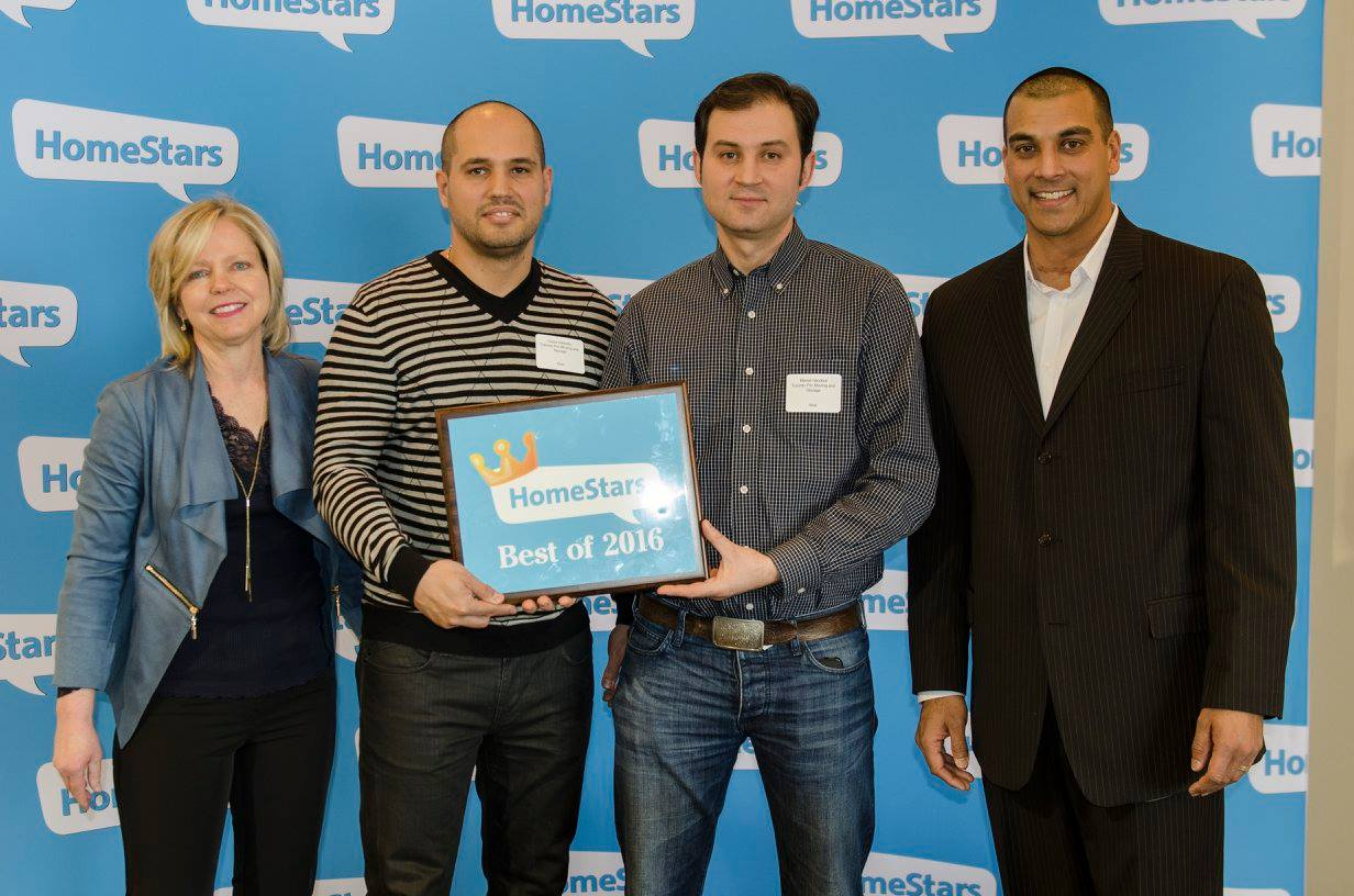 """HomeStars Best of 2016"" Awarded to ""Toronto Pro Moving and Storage"""