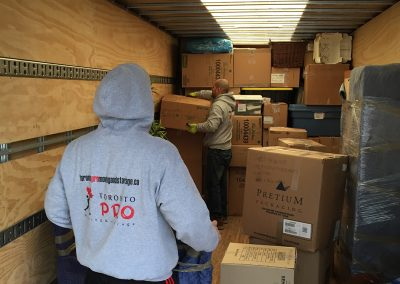 Moving Company Toronto Matching stuff in truck