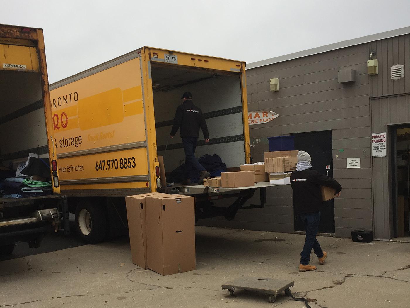 Moving Company Toronto Preparing Trucks