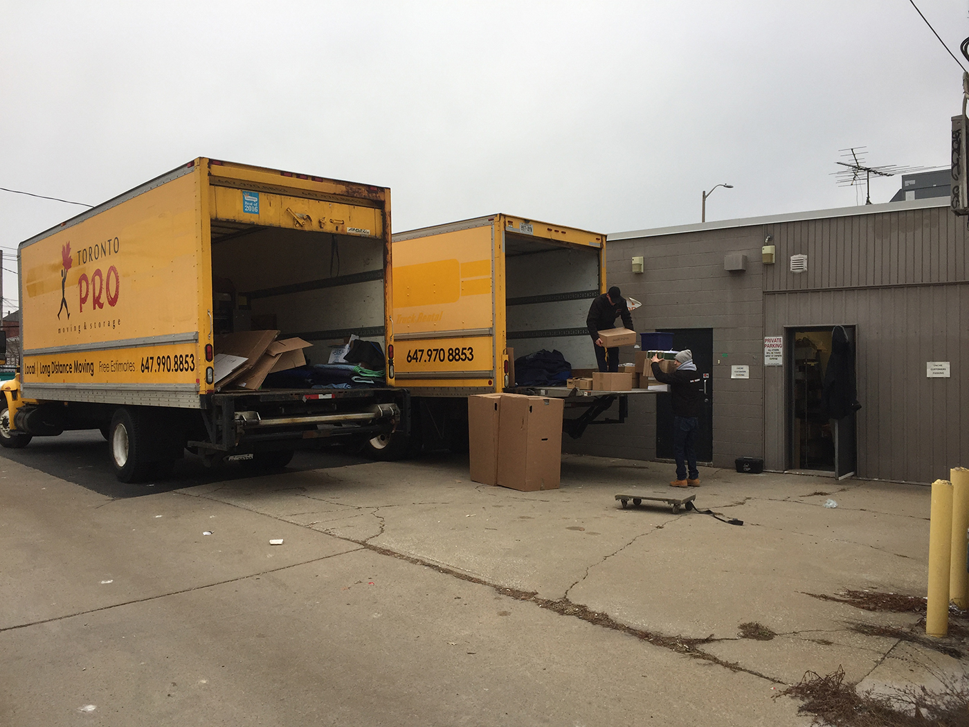Moving Company Toronto Preparing for Action