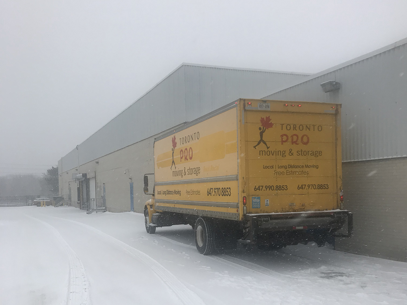 Moving Company Toronto Waiting for Adventure in Snow