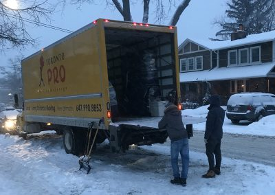 Moving Company Toronto at destination in Snow
